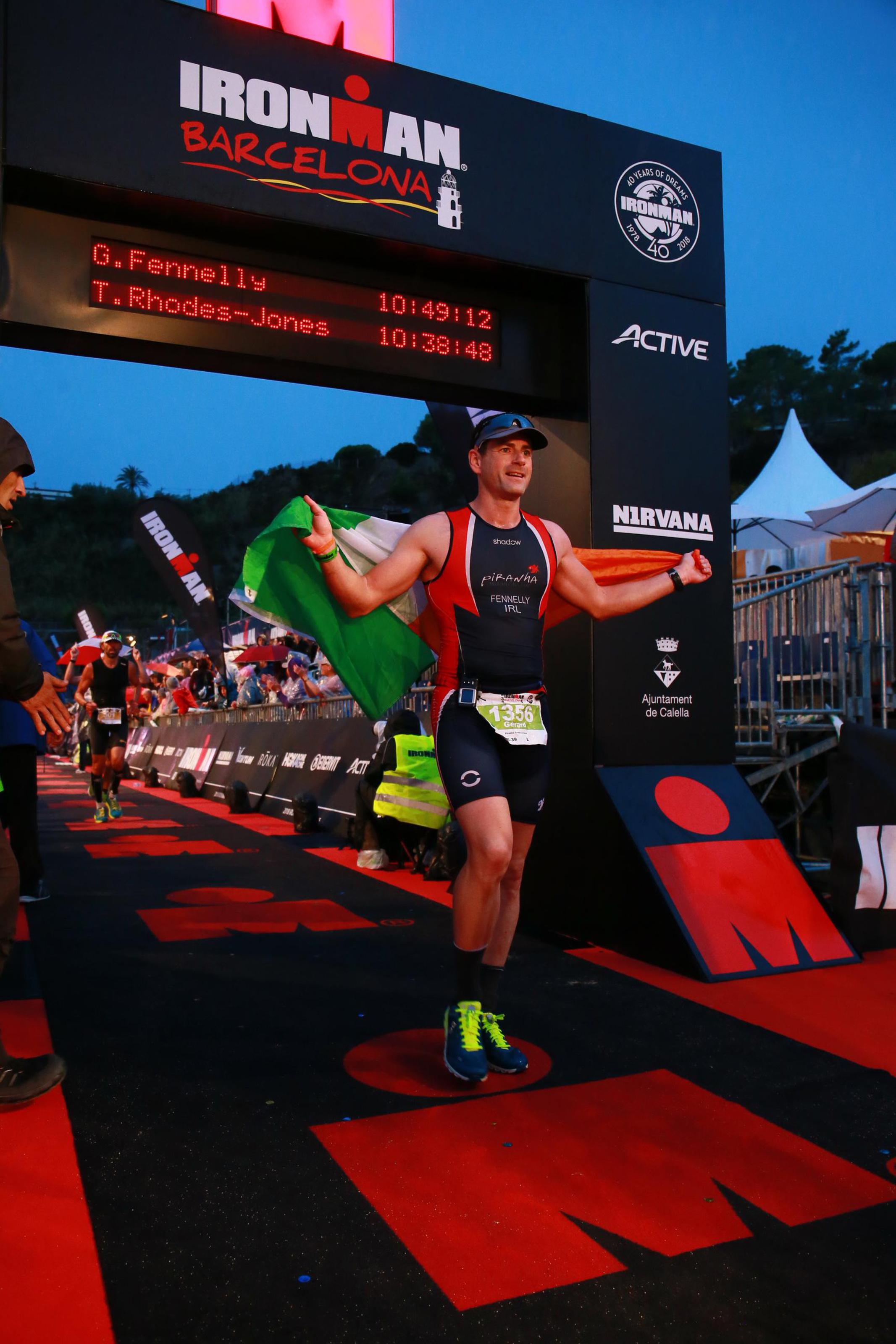 IronMan Barcelona finish line 2018
